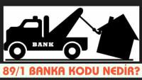 Banka 89/1 Kodu Nedir ve Bankaların Haciz Kodları